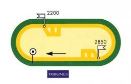 Saint Malo - Plan des piste de l'hippodrome de Marville