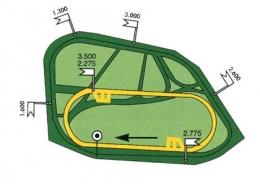 Plan des pistes de l'hippodrome de Craon - La Touche