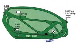 Plan des pistes de l'hippodrome Le Lion d'Angers